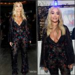 Rita Ora in Tony Ward Couture  at  GQ and Warner Brothers Party in London