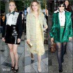 Sophie Turner, Dianna Agron & Soko at the Miu Miu F/W 2016 Paris Haute Couture Show
