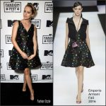 Teresa Palmer  In Emporio Armani  at the MTV Fandom Awards during  Comic Con