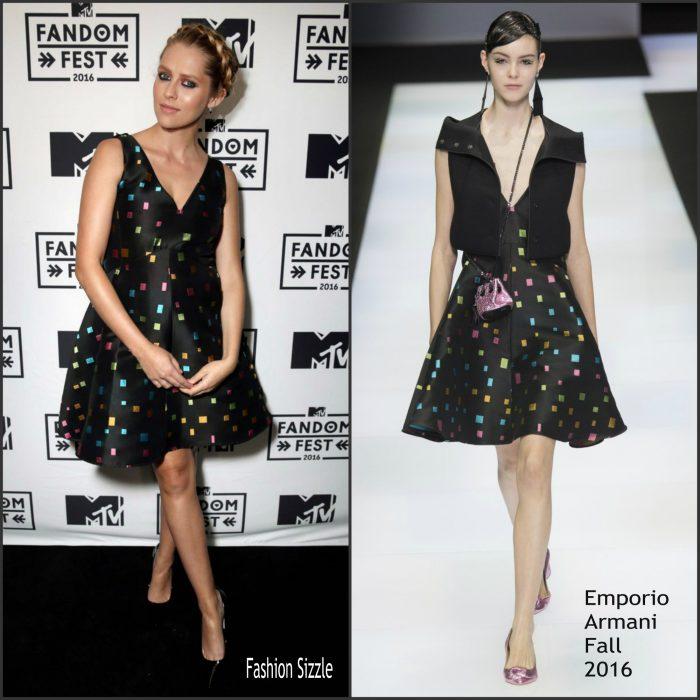 Teresa Palmer  attended 2016 MTV Fandom Awards held at PETCO Park on Thursday night (July 21) in San Diego, Calif.