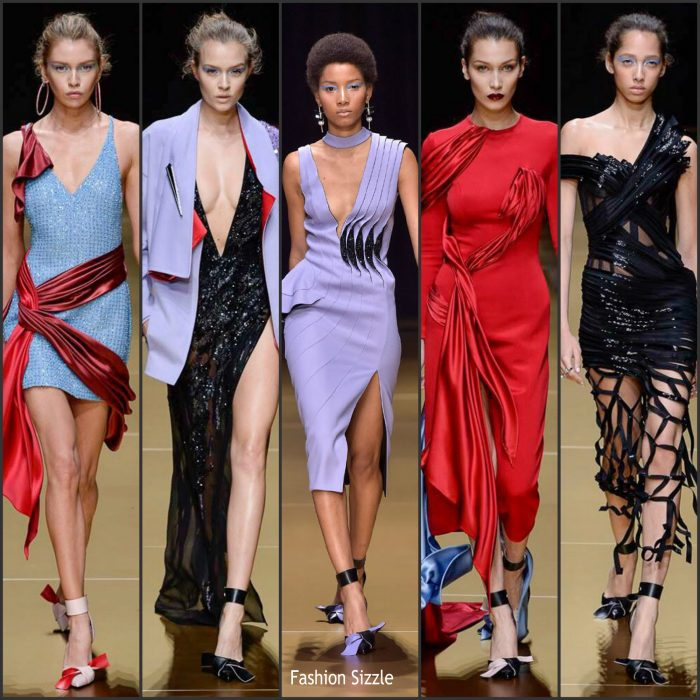 The Atelier Versace Haute Couture  was held on Sunday (July 3) in Paris, France. Below are featured looks.