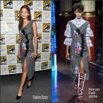 Zendaya  in Kenzo at Spider Man Homecoming Press line at  Comic Con