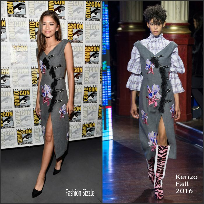 Zendaya attended the Spider-Man: Homecoming panel at 2016 San Diego Comic-Con on Saturday (July 23) in San Diego, Calif.