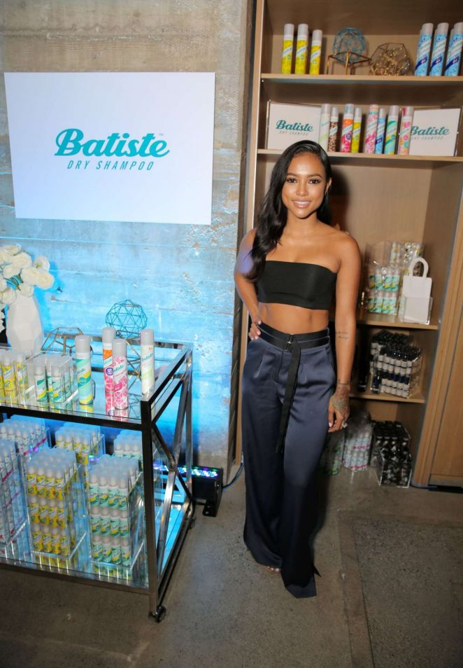 3-Karrueche-Tran-2016-Variety-Power-of-Young-Hollywood-topshop-navy-satin-wide-leg-trousers