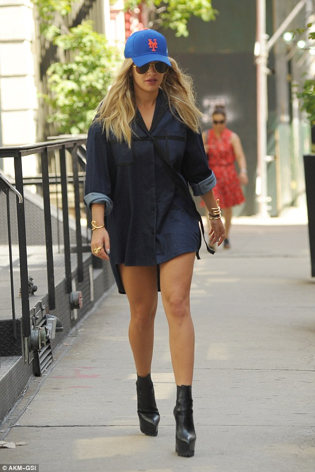 rita-ora-in-denim-shirt-dress-out-in-new-york