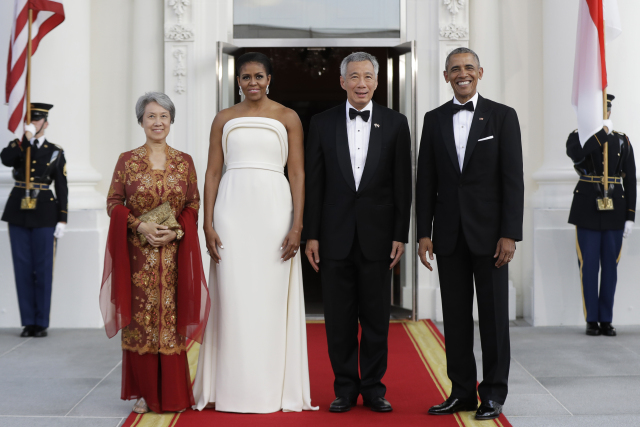 Barack-Obama-Lee -Hsien Loong,-Ho -Ching-,Michelle- Obama
