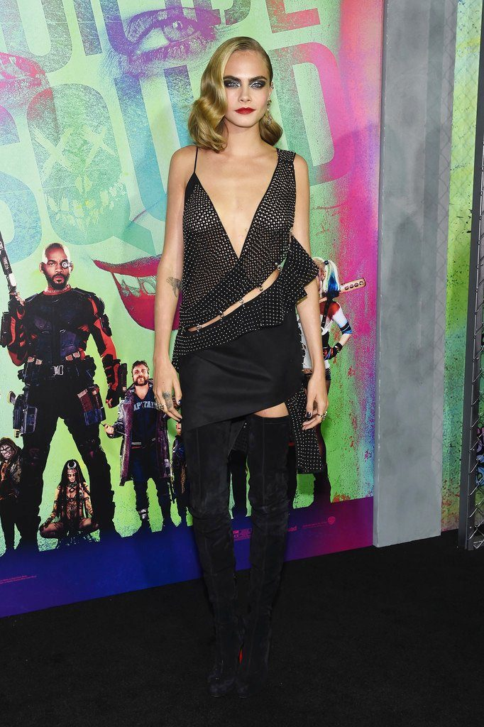 cara-delevingne-in-anthony-vaccarello-at-the-suicide-squad-new-york-premiere