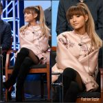 Ariana Grande in Stella McCartney  at 'Hairspray Live' NBCUniversal 2016 Summer TCA Tour Panel