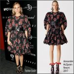 Diane Kruger In Alexander McQueen   at the Cinema Society & Chopard Screening