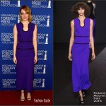 Emma Stone in Roland Mouret at the Hollywood Foreign Press Association Grants Banquet