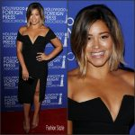 Gina Rodriguez  In  BCBG Max Aria   At The Hollywood Foreign Press Association Annual Grants Banquet