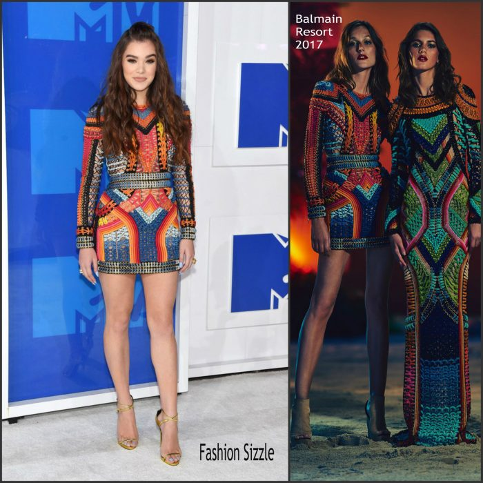 Hailee Steinfeld was in attendance  at  the 2016 MTV Video Music Awards alongside Ariana Grande at Madison Square Garden in New York on Sunday August 28,2016.