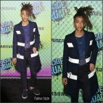 Jaden Smith  In Louis Vuitton  at The Suicide Squad New York Premiere