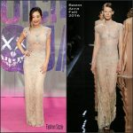 Karen Fukuhara  In  Reem Acra At The Suicide Squad European Premiere