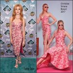 Katherine McNamara  In Christian Siriano At The  2016 Teen Choice Awards
