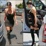 Kim Kardashian In a Privacy Please LBD – Out In LA