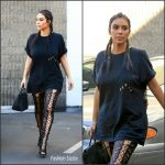 Kim Kardashian In The Life of Pablo Paris T-Shirt – Out In LA