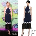 Leven Rambin in Jonathan Simkhai at the 'Suicide Squad' New York  Premiere