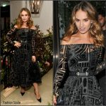 Lily James in Burberry at the 'My Burberry Black' Launch Event
