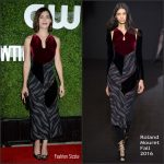 Lizzy Caplan in Roland Mouret at the 4th Annual CBS Television Studios Summer Soiree
