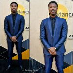 Michael B. Jordan  In Dolce & Gabbana at the Sundance Institute Night Before Next  Benefit