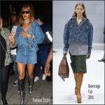 Rihanna wears Balenciaga Leaving Tape Nightclub