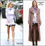 Rita Ora in Alessandra Rich Leaving her Tribeca Apartment