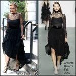 Rita Ora in Antonio Berardi Leaving her Tribeca Apartment