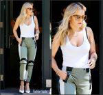 Rita Ora in ATM and Rag & Bone Leaving her Tribeca Apartment