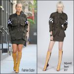 Rita Ora in Dsquared2 Arriving at her TriBeCa Apartment