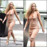 Rita Ora in  Ermanno Scervino slip dress Out In New York