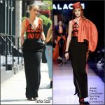 Rita Ora in Jean Paul Gaultier Couture Leaving her Tribeca Apartment
