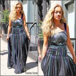 Rita Ora in Zac Zac Posen Leaving her Tribeca Apartment