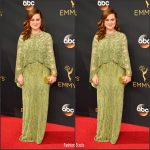 Amy Poehler  In Pamella Roland  At the 68th Primetime Emmy Awards