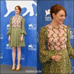 Emma Stone in Giambattista Valli at the 73rd Venice Film Festival La La Land Photocall