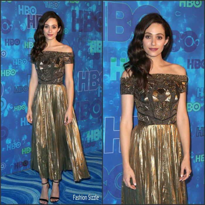 Emmy Rossum attended attending the HBO after party following the 2016 Emmy Awards on Sunday (September 18) at the Pacific Design Center in Los Angeles.
