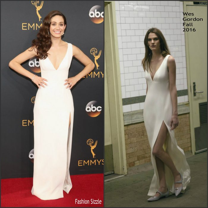 Emmy Rossum   was in attendance at the 68th Primetime Emmy Awards at the Microsoft Theater in LA on September 18, 2016.