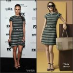 Jordana Brewster  In Tory Burch At Vanity Fair & FX Emmy Nominations Party
