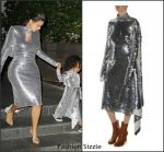 Kim Kardashian West  in Vetements Sequin Dress At Kanye West's concert at Madison Square Garden