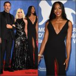 Naomi Campbell in Versace At Franca The Movie Premiere
