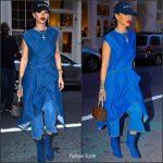 Rihanna in Balenciaga Denim  Out In New York