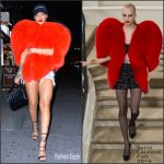 Rihanna  in  Saint Laurent  – Out In New York