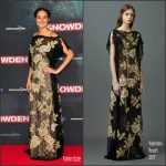 Shailene Woodley In Valentino At the  Snowden German Premiere
