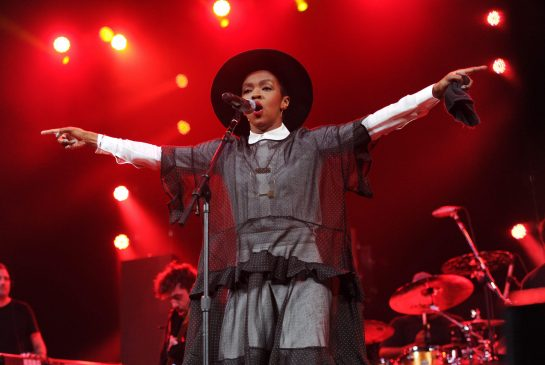 Lauryn Hill took the main stage headlining at the Halifax Jazz Festival on Tuesday [July 12] in Canada