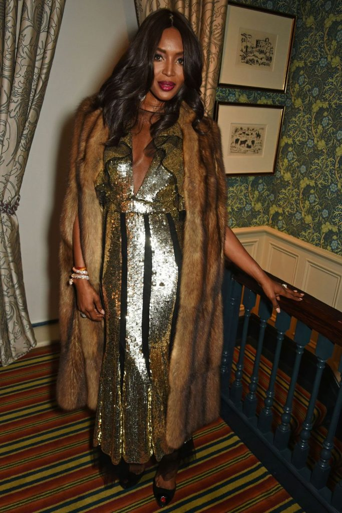 Naomi Campbell wore Alexander McQueen at Edward -Enninful- OBE -party