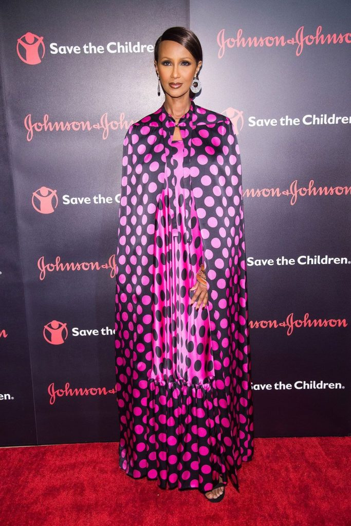 Iman- in -Duro- Olowu- at Save the -Children- gala-New -York