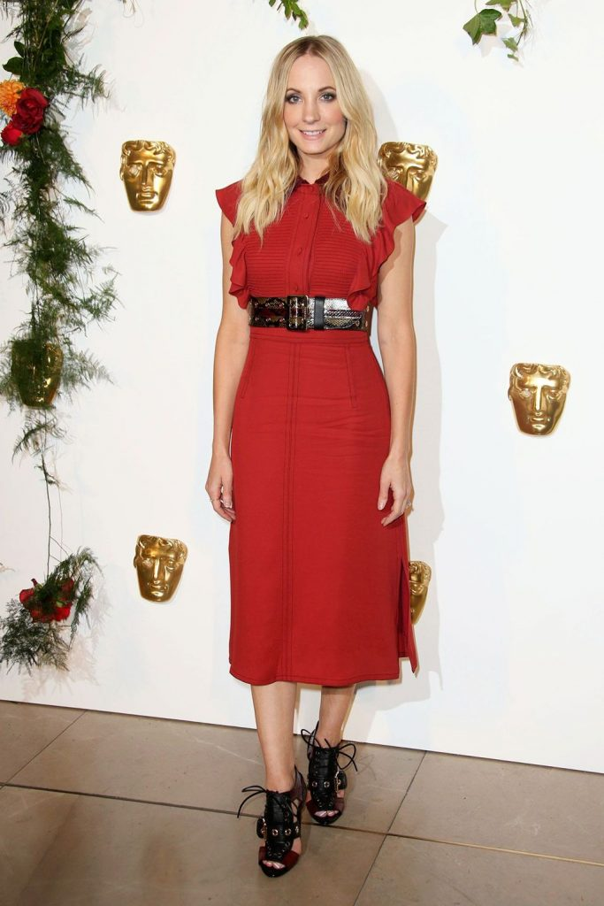 Joanne -Froggatt - in - Burberry -at -BAFTA- Breakthrough- Brits -event- London