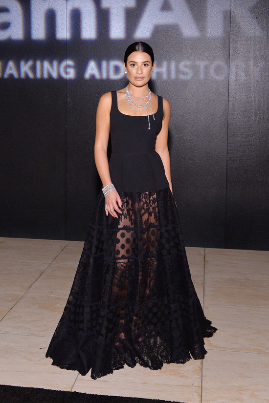 lea-michele-amfar-inspiration-gala-los-angeles-red-carpet-fashion-elie-saab-