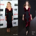Alice Eve In Roland  Mouret At  'Black  Mirror' 60th  BFI London  Film Festival Premiere