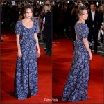 Alicia Vikander In Louis Vuitton At 'The Light Between Oceans'  London Premiere